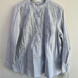 Lucy & Laurel Woman Button Down Shirt NWT Plus